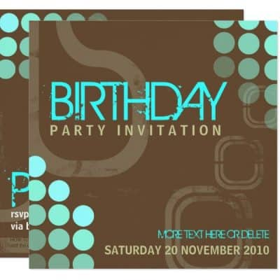 Retro Electro Party Birthday Invitation