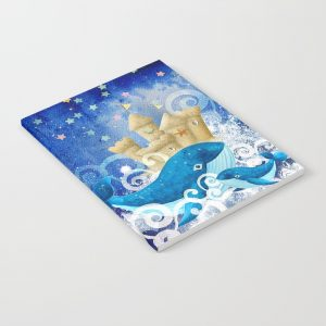 Notebook   Whales Sandcastle Waves