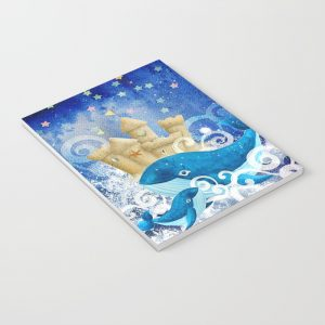 Notebook | Whales Sandcastle Waves