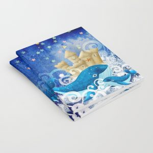 Set of 3 Notebooks | Whales Sandcastle Waves