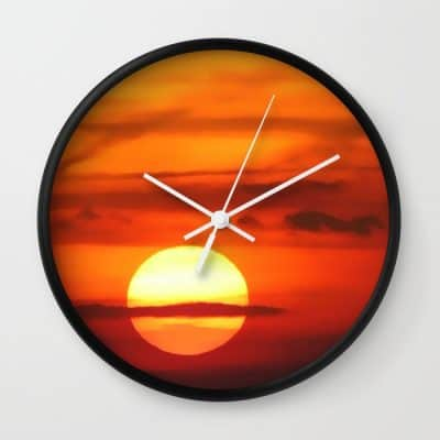 sunset-at-devils-dyke-uk-wall-clocks