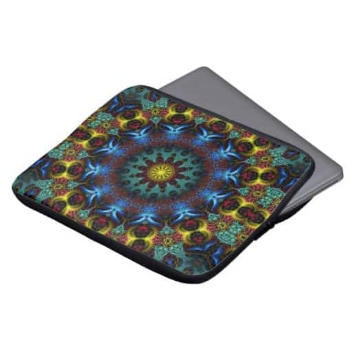 Fractal Mandala Lace Art Notebook Laptop Sleeve | Zazzle