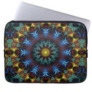 Fractal Mandala Lace Art Notebook Laptop Sleeve | Zazzle