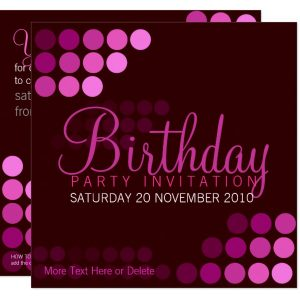Funky Pink Party Birthday Invitation by Paperstation