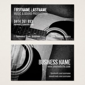 Acoustic Guitar Business Cards | Onlinecards Zazzle