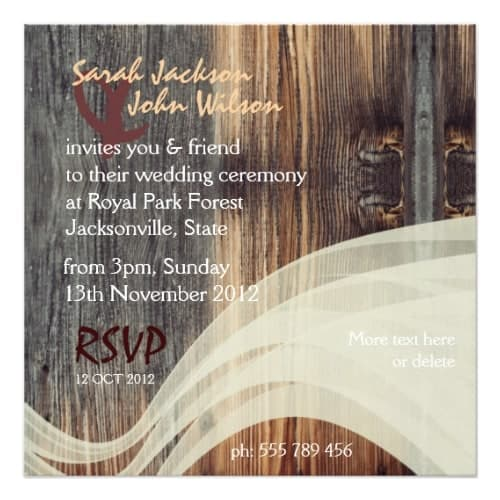 Rustic Vintage Motorbike Wedding Invitations | Webgrrl