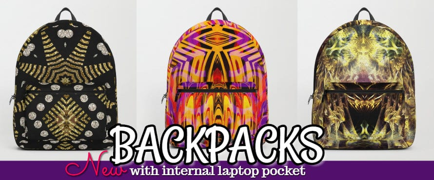 Unique Print Backpacks with Laptop Pocket