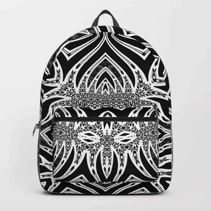 Black & White Tribal Symmetry | Unique Backpack designs by Webgrrl