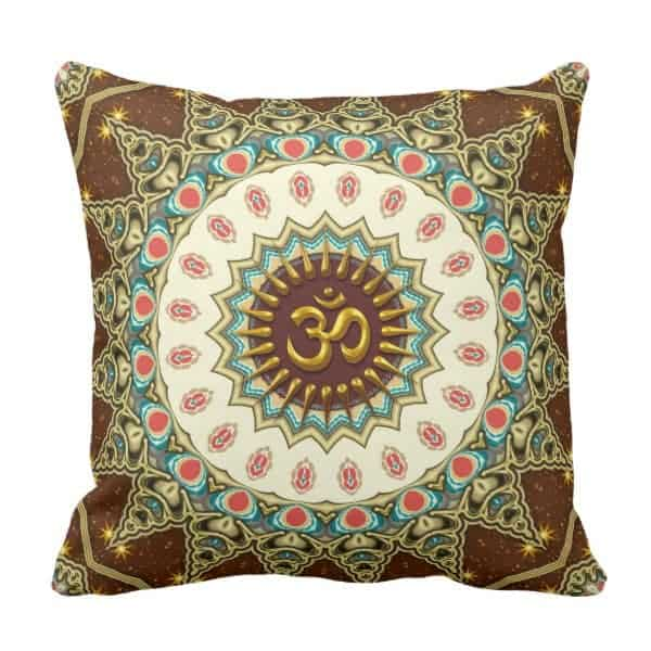 Bohemian OM Mandala Cushion / Pillow designs by Webgrrl