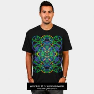 Connected by Love and Psytrance TShirt by Webgrrl | DBH