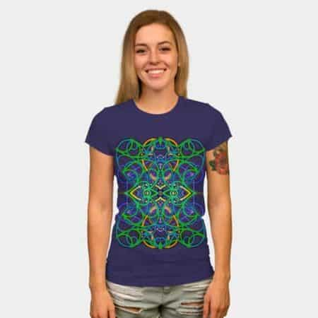 Connected by Love and Psytrance Women Tees by Webgrrl | DBH