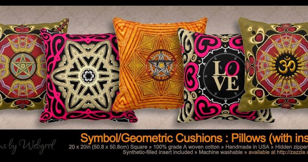 Om Symbol Mandala Yoga Throw Pillows