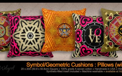 Om Symbol Mandala Yoga Throw Pillows