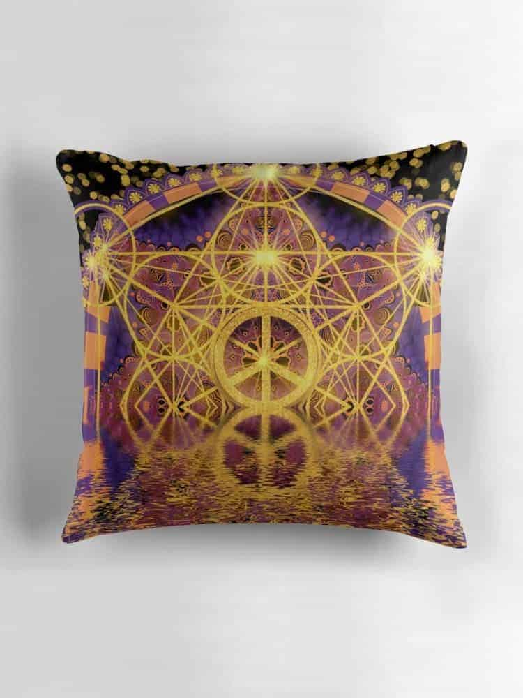 Geometry Peace Reflection Cushions | Redbubble