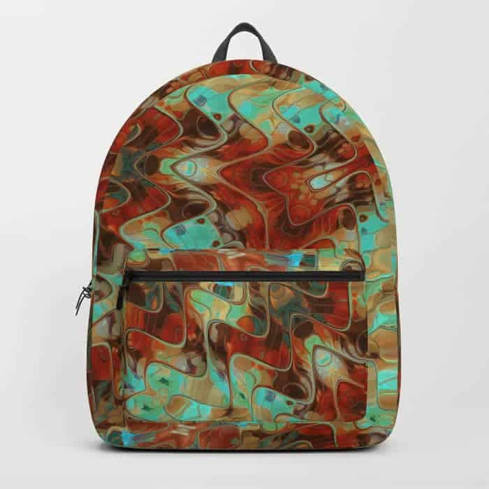 Scifi Rustic Geometric | Unique Backpack designs by Webgrrl
