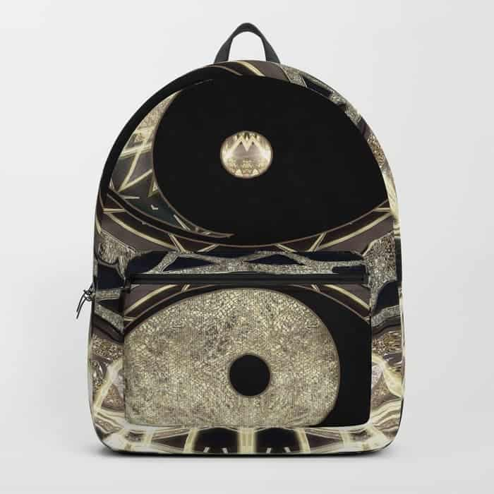 Yin Yang Geometry Mandala V1 | Unique Backpack designs by Webgrrl