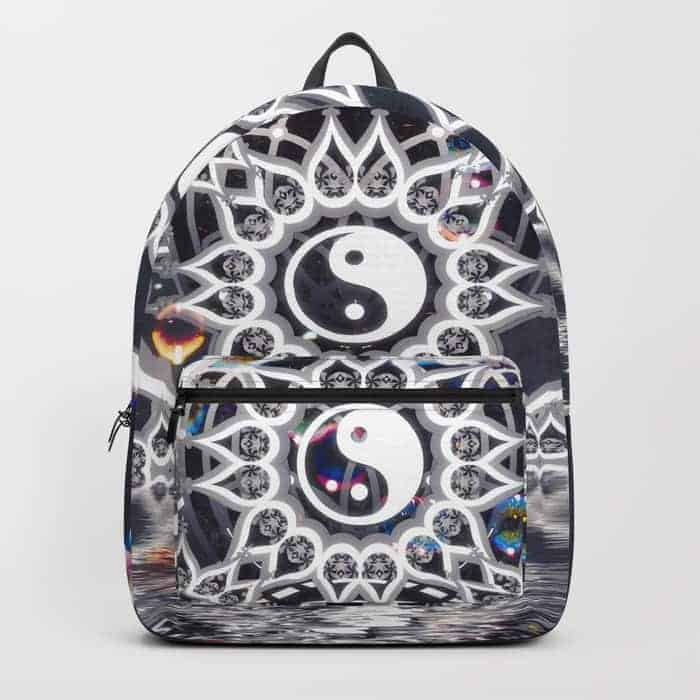 Yin Yang Symmetry Balance Reflection | Unique Backpack designs by Webgrrl