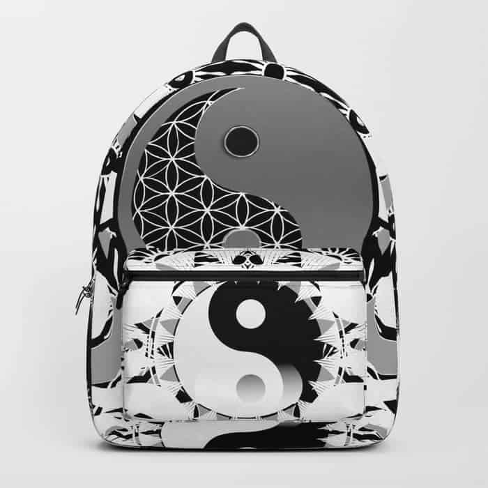 Yin Yang Sacred Geometry Totem | Unique Backpack designs by Webgrrl
