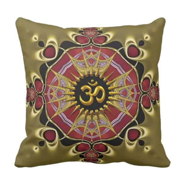 Yoga Passion Om Love Cushion / Pillow by webgrrl