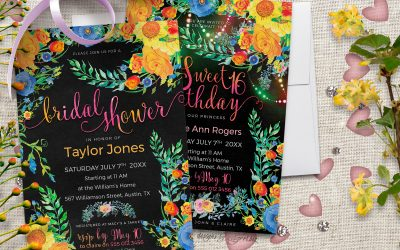 My Best Floral Invitation Card Designs