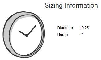 Wall Clocks Sizing Information   Redbubble