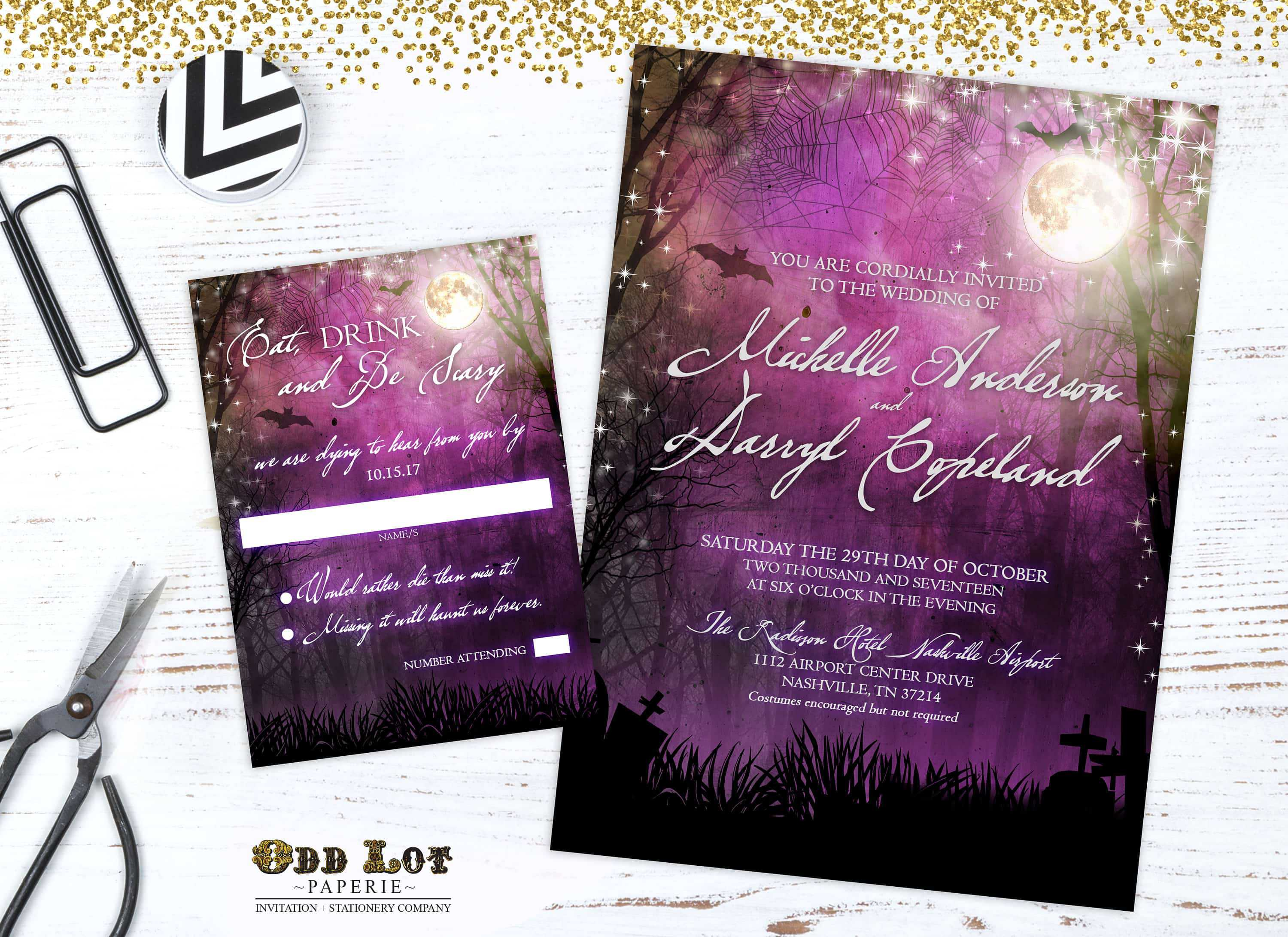 Halloween Wedding Invitation Goth Wedding ♥ Etsy