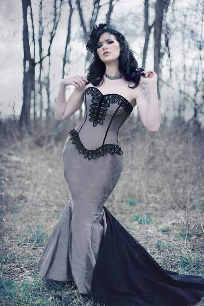 Mermaid Wedding Dress ♥ Goth Gothic Bridal Steampunk Gown