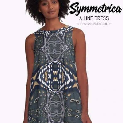 Symmetrica - Gold Denim A-Line Dresses