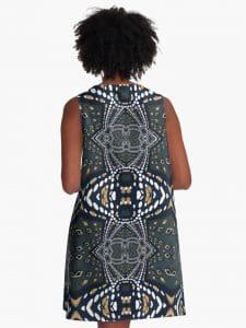 Symmetrica - Gold Denim A-Line Dresses