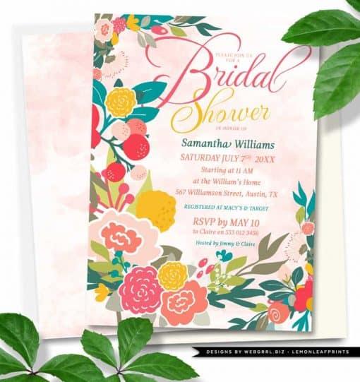 Woodlands Flowers Bridal Shower • Watercolor Wildflowers