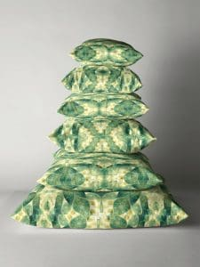 Green Forest Psychedelic Angels Pillow Stack by Webgrrl   Redbubble