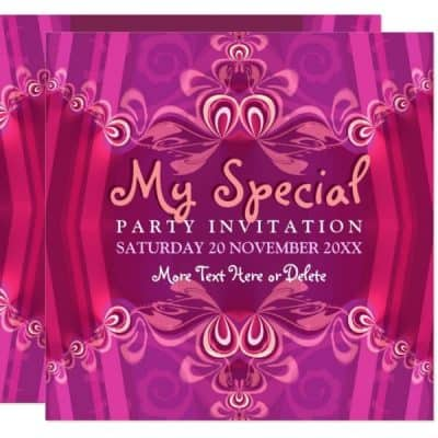 Exotic Pink Girls Boudoir Party Invitation by Paperstation (Webgrrl)