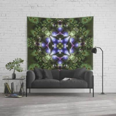 Fractal Forest Indigo Wall Tapestry by Webgrrl