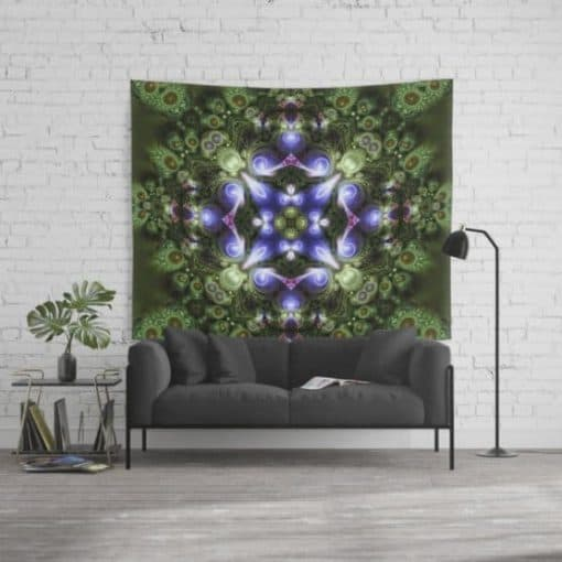 Fractal Forest Indigo Wall Tapestry by Webgrrl