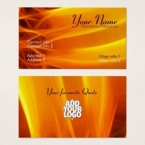 Sun Fractal Flame Business Card by webgrrl • onlinecards