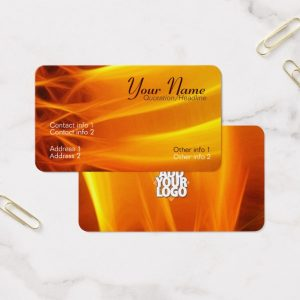 Sun Flame Rounded Corners Business Card by onlinecards