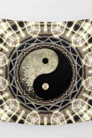 YIN YANG GEOMETRY MANDALA V1 by Webgrrl • Society6