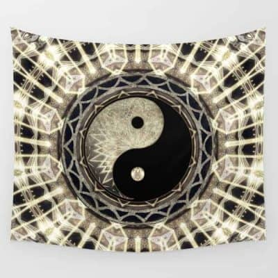 YIN YANG GEOMETRY MANDALA V1 by Webgrrl • Society6