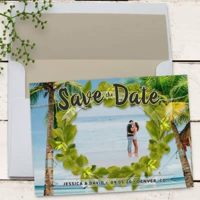 Palm Beach Save the Date Card | Personalized Photo