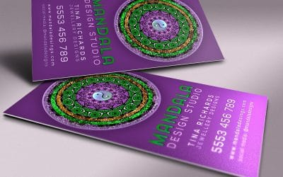 Purple Business Cards Templates