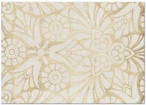 Gold and Coral Floral Save the Date Card (back)