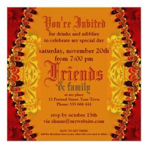 Orient Jungle Art Party Invitation by Webgrrl | Back view