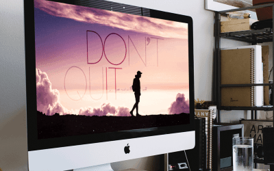 Free Motivational Wallpaper – Don't Quit