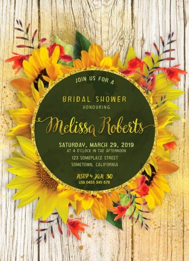 Rustic Shabby Chic Sunflower Bridal Shower