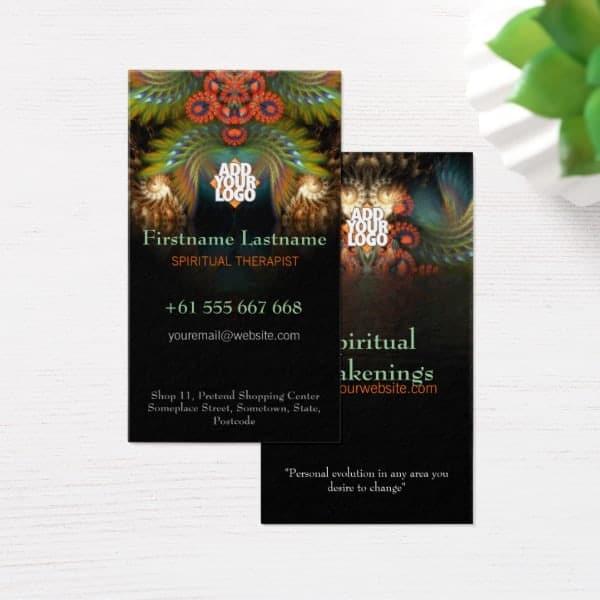 FractalSpirit Wings i2.0v Business Card | Unique Designs & Alternative Styles