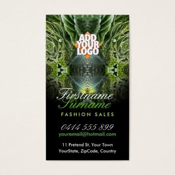 Green Eco Fantasy Art Business Cards | Unique designs by Webgrrl