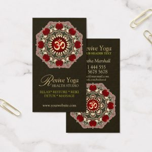 Revive Yoga Love Om New Age Business Cards
