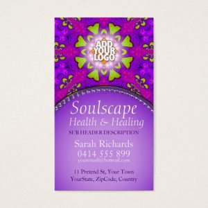 Soulscape Health & Healing New Age Business Card