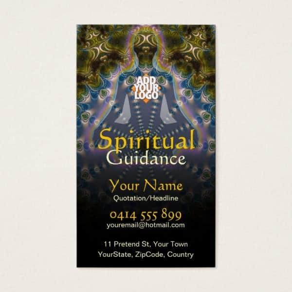 Yoga Fractal Spiritual Guidance Holistic Business Card | Unique designs by Webgrrl