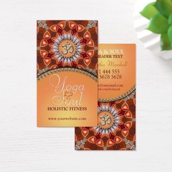 Yoga Holistic Crystal Energy NewAge Business Cards | Unique Designs & Alternative Styles